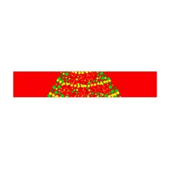 Sparkling Christmas Tree   Red Flano Scarf (mini) by Valentinaart