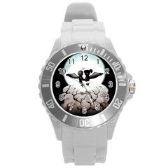 The World Comes Crashing Down Round Plastic Sport Watch (l) by lvbart