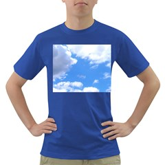 Summer Clouds And Blue Sky Dark T Shirt by picsaspassion