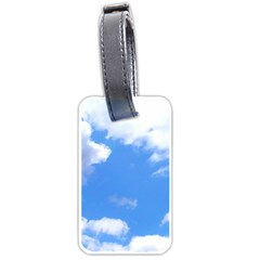 Summer Clouds And Blue Sky Luggage Tags (one Side)  by picsaspassion