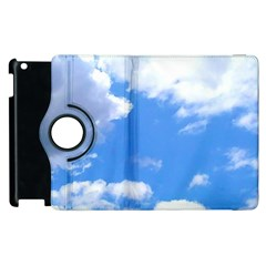 Summer Clouds And Blue Sky Apple Ipad 3/4 Flip 360 Case by picsaspassion