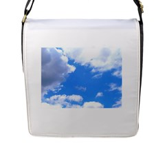 Summer Clouds And Blue Sky Flap Messenger Bag (l)  by picsaspassion