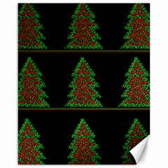 Christmas Trees Pattern Canvas 16  X 20   by Valentinaart