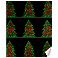 Christmas Trees Pattern Canvas 11  X 14   by Valentinaart
