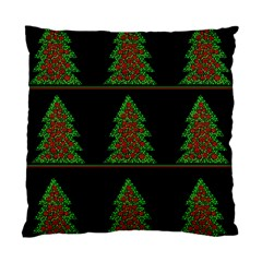 Christmas Trees Pattern Standard Cushion Case (two Sides) by Valentinaart