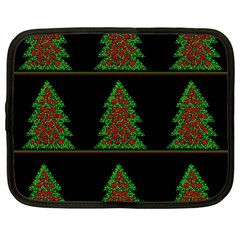 Christmas Trees Pattern Netbook Case (xl)  by Valentinaart