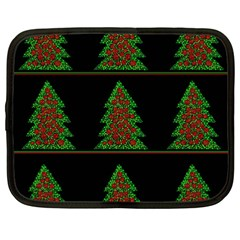 Christmas Trees Pattern Netbook Case (xxl)  by Valentinaart