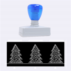 Christmas Trees Pattern Rubber Stamps (large) by Valentinaart