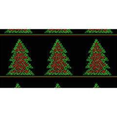 Christmas Trees Pattern You Are Invited 3d Greeting Card (8x4) by Valentinaart