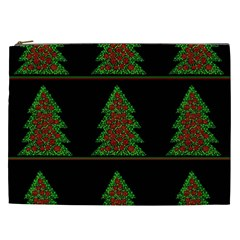 Christmas Trees Pattern Cosmetic Bag (xxl)  by Valentinaart