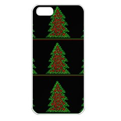 Christmas Trees Pattern Apple Iphone 5 Seamless Case (white) by Valentinaart