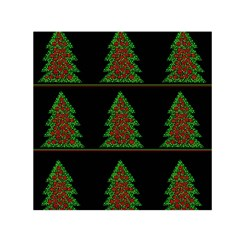 Christmas Trees Pattern Small Satin Scarf (square) by Valentinaart