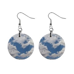Breezy Clouds In The Sky Mini Button Earrings by picsaspassion