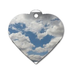 Breezy Clouds In The Sky Dog Tag Heart (two Sides) by picsaspassion