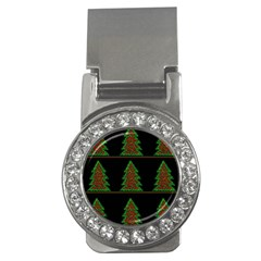 Christmas Trees Pattern Money Clips (cz)  by Valentinaart