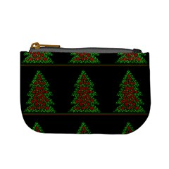 Christmas Trees Pattern Mini Coin Purses by Valentinaart
