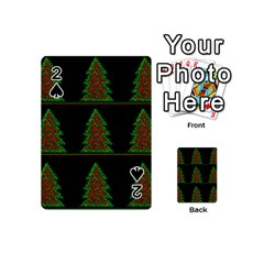 Christmas Trees Pattern Playing Cards 54 (mini)  by Valentinaart
