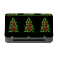 Christmas Trees Pattern Memory Card Reader With Cf by Valentinaart