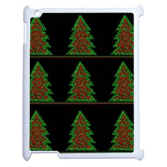 Christmas Trees Pattern Apple Ipad 2 Case (white) by Valentinaart