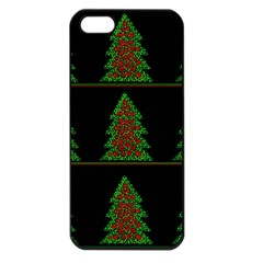 Christmas Trees Pattern Apple Iphone 5 Seamless Case (black) by Valentinaart