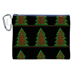 Christmas Trees Pattern Canvas Cosmetic Bag (xxl) by Valentinaart