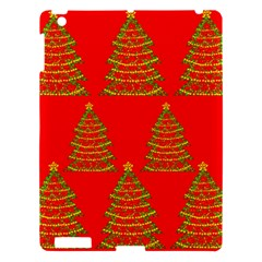 Christmas Trees Red Pattern Apple Ipad 3/4 Hardshell Case by Valentinaart
