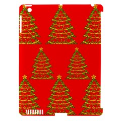 Christmas Trees Red Pattern Apple Ipad 3/4 Hardshell Case (compatible With Smart Cover) by Valentinaart