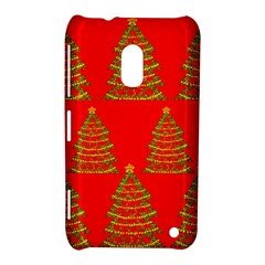 Christmas trees red pattern Nokia Lumia 620 by Valentinaart