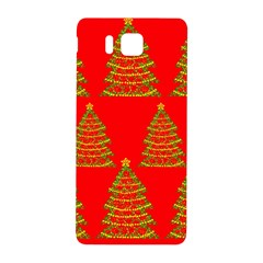 Christmas Trees Red Pattern Samsung Galaxy Alpha Hardshell Back Case by Valentinaart