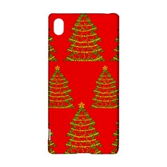 Christmas trees red pattern Sony Xperia Z3+ by Valentinaart
