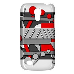 Gray And Red Geometrical Design Galaxy S4 Mini by Valentinaart