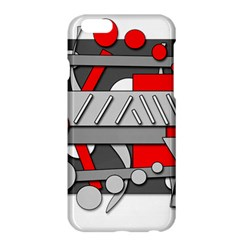 Gray And Red Geometrical Design Apple Iphone 6 Plus/6s Plus Hardshell Case by Valentinaart