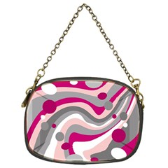 Magenta, Pink And Gray Design Chain Purses (two Sides)  by Valentinaart