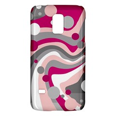 Magenta, Pink And Gray Design Galaxy S5 Mini by Valentinaart