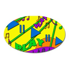 Music Oval Magnet by Valentinaart