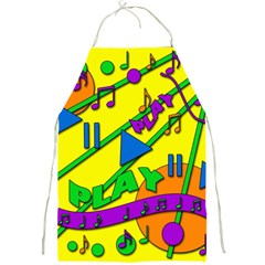 Music Full Print Aprons by Valentinaart