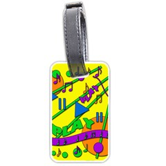Music Luggage Tags (one Side)  by Valentinaart