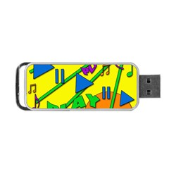Music Portable Usb Flash (two Sides) by Valentinaart