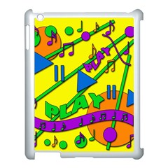 Music Apple Ipad 3/4 Case (white) by Valentinaart