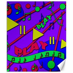 Music 2 Canvas 8  X 10  by Valentinaart