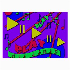 Music 2 Large Glasses Cloth (2 Side) by Valentinaart