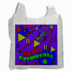 Music 2 Recycle Bag (two Side)  by Valentinaart
