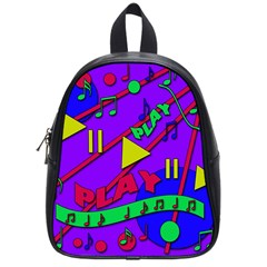 Music 2 School Bags (small)  by Valentinaart
