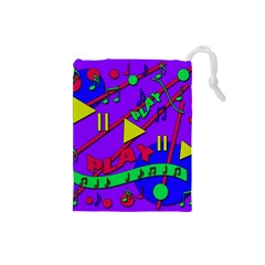 Music 2 Drawstring Pouches (small)