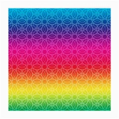 Rainbow Rings Glasses Cloth (Medium 2-Side) by PhotoThisxyz