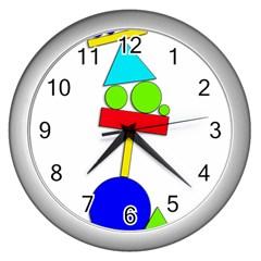 Balance  Wall Clocks (silver)  by Valentinaart