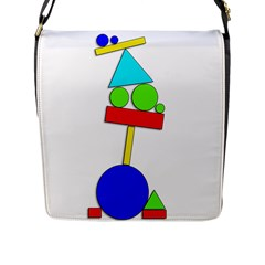 Balance  Flap Messenger Bag (l)  by Valentinaart