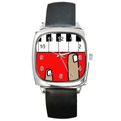 Piano  Square Metal Watch by Valentinaart