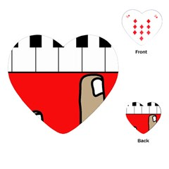 Piano  Playing Cards (heart)  by Valentinaart