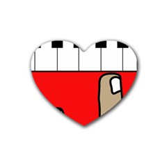 Piano  Rubber Coaster (heart)  by Valentinaart